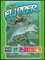 The New FLIPPER__Orig. 1987 Trade print AD / promo__SEPP-INTER__Snorks__Smurfs