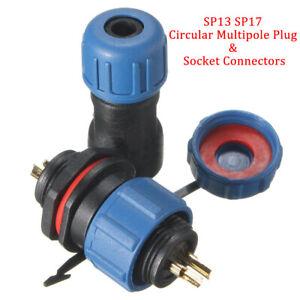 SP13 SP17 Std Series IP68 Waterproof Circular Multipole Plug & Socket Connectors