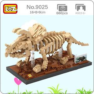 LOZ 9025 Dinosaur Fossil Triceratops Skeleton Mini Diamond Blocks Building Toy