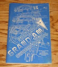 Original 1986 Pontiac Grand Am Owners Operators Manual 86
