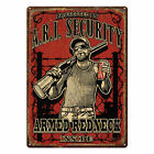 Tin Sign, Armed Redneck Inside, Weatherproof with Pre-Punched Holes for