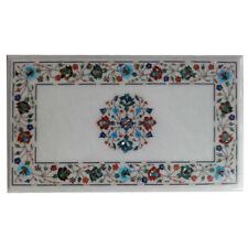 "18""x36"" Very Beautiful Marble Inlay Dining Table Top Home Decor"