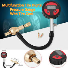 Car SUV Cycle Tire LCD Digital Pressure Gauge Deflator Air Deflators +Tire Cores