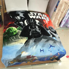 "Star Wars Yoda Darth Vader Stormtrooper Plush Flannel Blanket Throw 60"" X 80"""