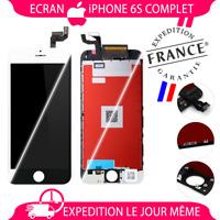 ECRAN LCD/COMPLET VITRE TACTILE IPHONE 6S NOIR BLANC SUR CHÂSSIS
