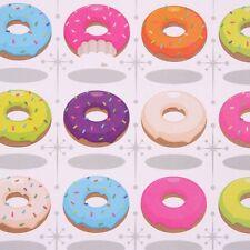 feuille de PAPIER CADEAU + étiquette 50 x 70 cm thème DONUTS CUPCAKE