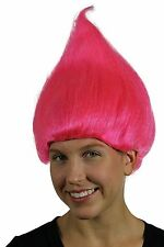 Pink Adult Troll Wig Gnome Clown Costume Team Doll Hot Womens Dr. Seuss 90's