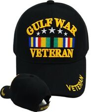 Gulf War Veteran RIBBON Ball Cap SASM SWASM US Army Navy USMC USAF USCG Vet Hat