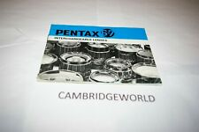 Pentax 67 Camera Lenses Instruction Manual Guide Book 30Page