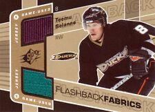 07-08 SPX Flashback FABRICS JERSEY Teemu SELANNE #125 - Ducks