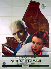 NIGHT IN DECEMBER 1939 Pierre Blanchar, Renee Saint Cyr PIANO FRENCH POSTER
