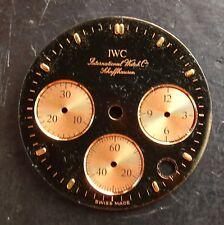 IWC Schaffhausen cronografo originale quadrante nero 24 mm