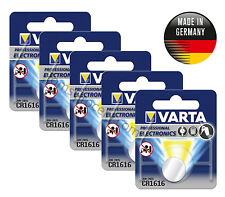 5x VARTA Professional Lithium CR1616 6616 Button Coin German Battery 3V EXP:2022