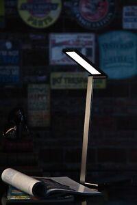 LED Schreibtischlampe 12W Schwarz Augenschutz 4000K Stufenlos Dimmen Memory Funk