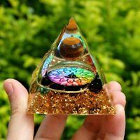 Handmade Tiger Eye Crystal Sphere Orgone Pyramid Reiki Energy Healing Orgonite