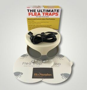 🌟Ultimate Electric Flea Trap, Glue Discs Lure Fleas & Insects, Pet & Child Safe