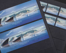 Gibraltar 2007 Used CTO Mint MNH Set Minisheet Cruise Ships Queen Elizabeth Mary