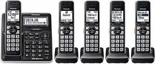 Panasonic, 5 Handset Cordless Phone Bluetooth System, DECT 6.0 HD Link2Cell