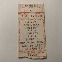 Journey Buffalo Memorial Auditorium NY Concert Ticket Stub Vintage August 1980