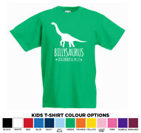 Personalised Diplodocus Dinosaur Name Kids T-Shirt tshirt Age 1-13 Add Any Name