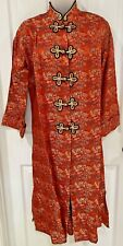 New listing Vintage Chinese Asian Coat Robe Duster Embroidered Women'S M Traditional Costume