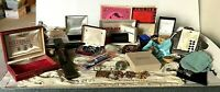 Junk Drawer Lot 5+ lbs Collectibles Vtg Crucifix Rosary Jewelry Boxes Sm Oil Can