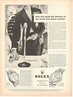 1957 Original Advertising' Advertising Rolex Watch Men Who Guide The World