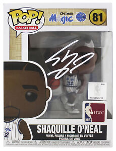 Magic Shaquille O'Neal Signed NBA HWC Funko Pop Vinyl Figure w/ White Sig BAS