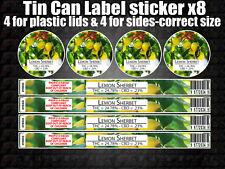 LEMON SHERBET tin can Labels Sticker Marijuana weed CALI RX Medical Cannabis