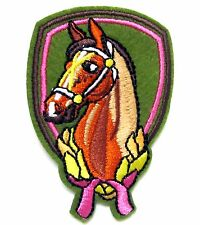 Horse Iron On Patch- Embroidered Appliques Animal Badge Equestrian Sew Crafts