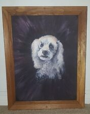 "Cocker Spaniel, ""Merci"", Signed Oil Painting by BOB CARY - Ely, Minn. 1981 RARE!"