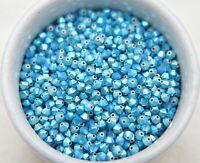 4mm Caribbean Blue Opal (395) 2X AB Swarovski Bicone Beads 432 Pcs FREE SHIPPING