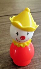 Vintage Fisher-Price Little People Red Clown with Yellow Hat