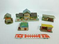 BE921-1# 5x Faller H0 Modelle Bahnhof 1021149+ Wartestellen 156+ 91+ Kiosk 212