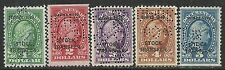 us revenue stock transfer stamps rd54 - rd58  issues of 1940 - overprints set  2