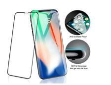 For Apple iPhone Xs  5D Curved Full Cover Tempered Glass Screen Protector Black