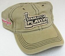 NHL Washington Capitals Playoffs Khaki Slouch One Size Fits All Hat By Reebok