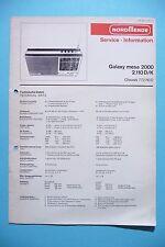 Service Manual-Anleitung für Nordmende Galaxy Mesa 2000/2.110 D/K ,ORIGINAL