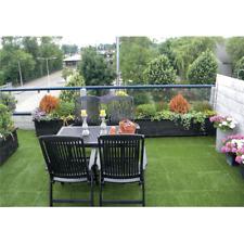 Interlocking Artificial Grass Tiles 30cm/1ft Patio Garden Hot Tub Decking Floor