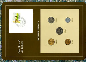 Coin Sets of All Nations Ethiopia 50,25,10,5,1 cent 1977 UNC British Mint