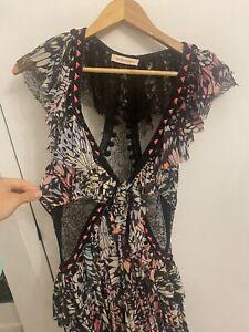Matthew Williamson 100% Silk Lace Cutout Occasion Dress Size 8