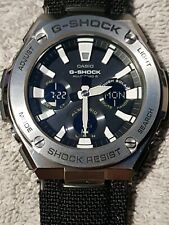NEW Casio STEEL G Shock Solar Powered watch Black strap FREE DELIVERY never worn