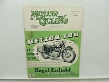 December 1952 MOTORCYCLING Magazine Royal Enfield Meteor 700 Triumph L9836