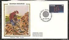 Canada SC # 865 Uranium Resources  FDC. Colorano Cachet.