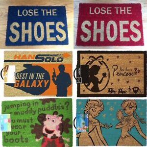 Coir Door Mat  LOSE SHOES / FROZEN / STAR WARS / PRINCESS / PEPPA PIG