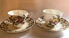 2 unmatched Tea Cups and Saucer Rosina Bone China
