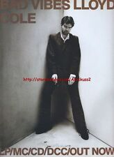 Lloyd Cole Bad Vibes Album 1993 Magazine Advert #2055