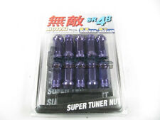 Muteki SR48 Extended Open Ended Wheel Tuner Lug Nuts Chrome Purple 12x1.5mm NEW