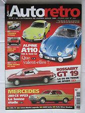 AUTO RETRO N° 306 /ALPINE A110/DINO 246 GT-GTS/ESCORT RS 2000/BOSSAERT GT 19