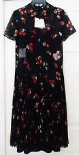 Black floral print dress from Red Valentino